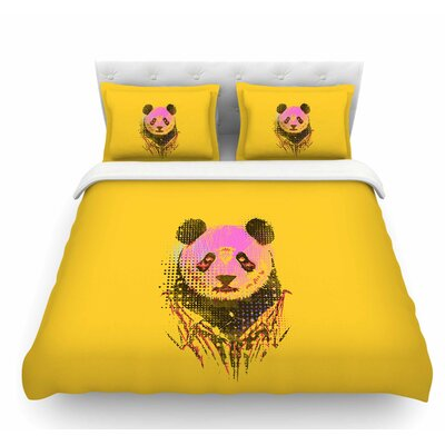 Dandy Panda by BarmalisiRTB Featherweight Duvet Cover Size: Twin