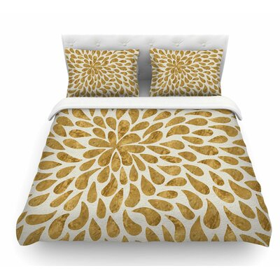 Abstract Flower by 888 Design Featherweight Duvet Cover Size: Twin