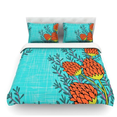 Flowers by Nandita Singh Featherweight Duvet Cover Size: King