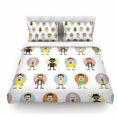 The Stages of Walter White by Juan Paolo Breaking Bad Featherweight Duvet Cover Size: Queen