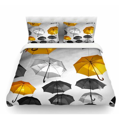 Umbrellas by 888 Design Featherweight Duvet Cover Size: Queen