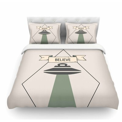 Believe by Alias Featherweight Duvet Cover Size: Queen