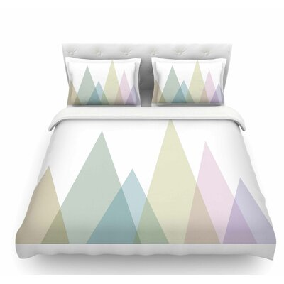 Many Peaks by Alias Pastels Illustration Featherweight Duvet Cover Size: King