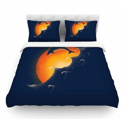Welcomes Sunrise by Barmalisirtb Featherweight Duvet Cover Size: King