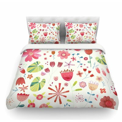 Pressed Wildflowers by Nic Squirrell Featherweight Duvet Cover Size: Twin