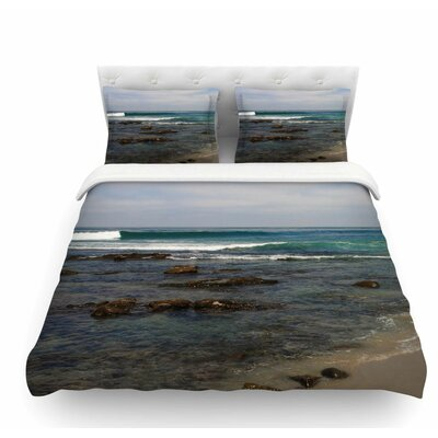 Clear Water Beach by Nick Nareshni Coastal Featherweight Duvet Cover Size: King