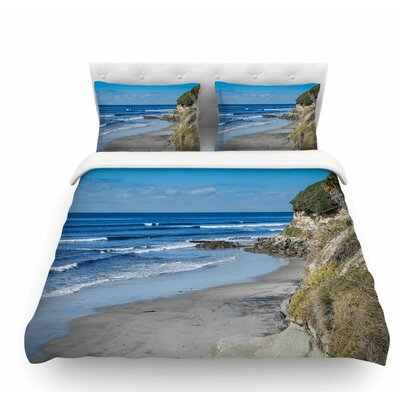 Swamis Beach Coast by Nick Nareshni Coastal Featherweight Duvet Cover Size: King