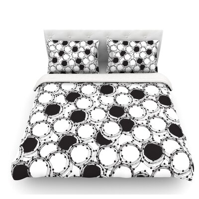 Beaded Bangles by Nandita Singh Featherweight Duvet Cover Size: Queen