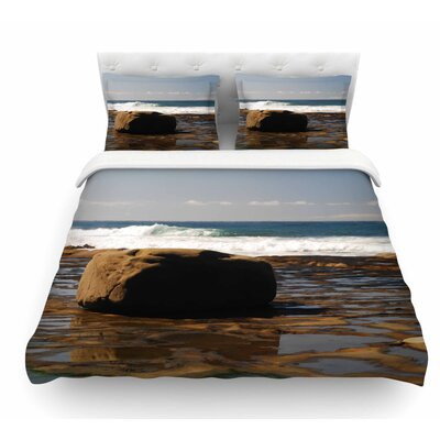 The Lone Rock by Nick Nareshni Featherweight Duvet Cover Size: Queen