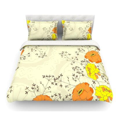 Flowers and Twigs by Nandita Singh Featherweight Duvet Cover Size: King