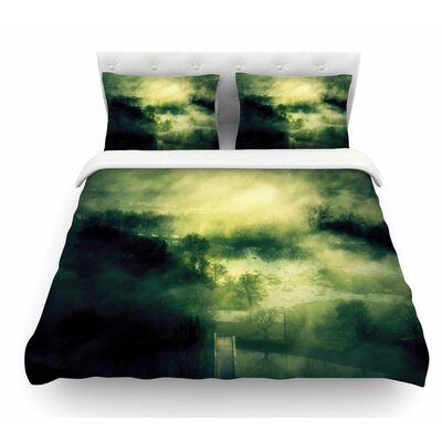 Dark Mystical Landscape by 888 Design Featherweight Duvet Cover Size: Twin