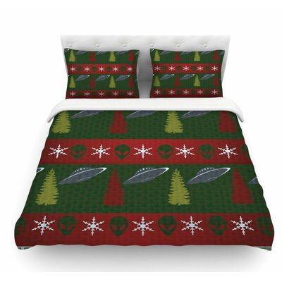 Xmas Files by Alias Featherweight Duvet Cover Size: Queen