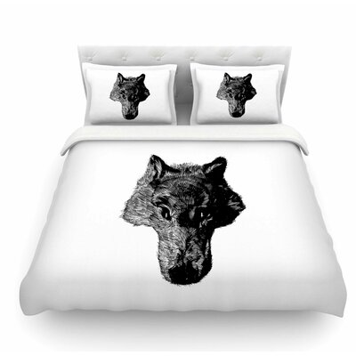 Coyote by BarmalisiRTB Featherweight Duvet Cover Size: Queen