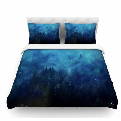 Night Forest by 888 Design Featherweight Duvet Cover Size: Queen