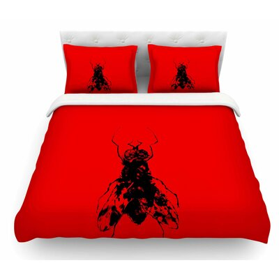 The Fly by BarmalisiRTB Featherweight Duvet Cover Size: Twin