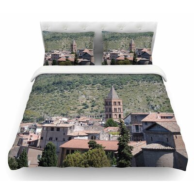 Florence Architecture by Nick Nareshni Travel Featherweight Duvet Cover Size: Queen
