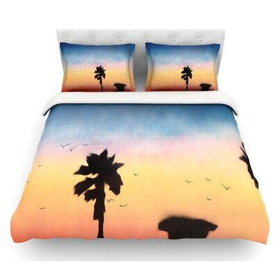 Carlsbad Sunset Duvet Cover Size: Queen