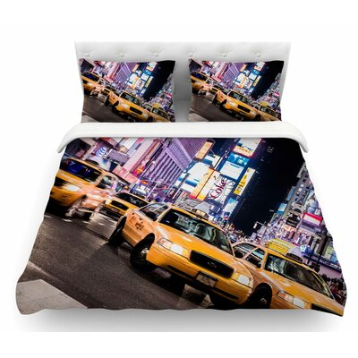 Rush Hour by Juan Paolo Travel Urban Featherweight Duvet Cover Size: King