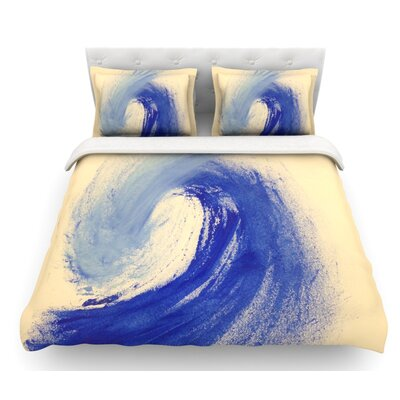 Waveology by Infinite Spray Art Featherweight Duvet Cover Size: Twin