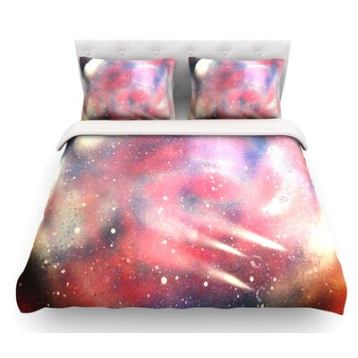 Cascade Swirl by Infinite Spray Art Featherweight Duvet Cover Size: King