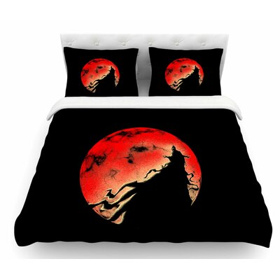 Cloak by BarmalisiRTB Moon Featherweight Duvet Cover Size: Twin