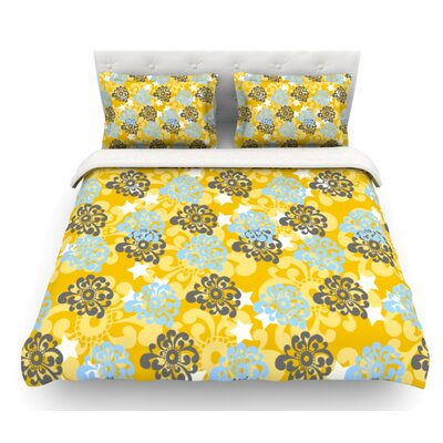 Flowers by Nandita Singh Floral Featherweight Duvet Cover Size: Queen