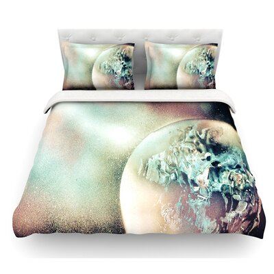 Space Dust by Infinite Spray Art Space Planet Featherweight Duvet Cover Size: Queen