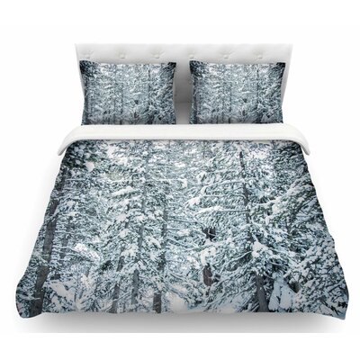 Winter Trials by Juan Paolo Snow Featherweight Duvet Cover Size: Queen