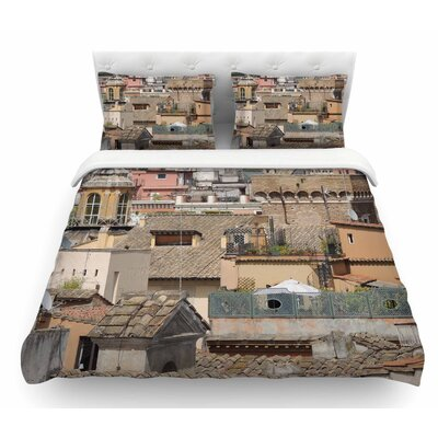 Florence Italy Hillside by Nick Nareshni Featherweight Duvet Cover Size: Queen