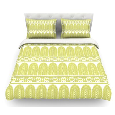 Tribal by Nandita Singh Featherweight Duvet Cover Size: Queen