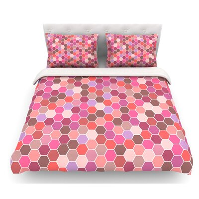 Blush by Nandita Singh Tiled Featherweight Duvet Cover Size: King