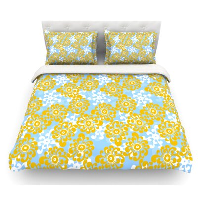 Flowers Alternate by Nandita Singh Floral Featherweight Duvet Cover Size: Twin