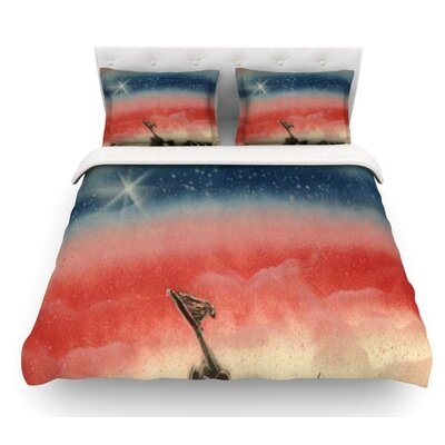 Veterans Day by Infinite Spray Art Featherweight Duvet Cover Size: Queen