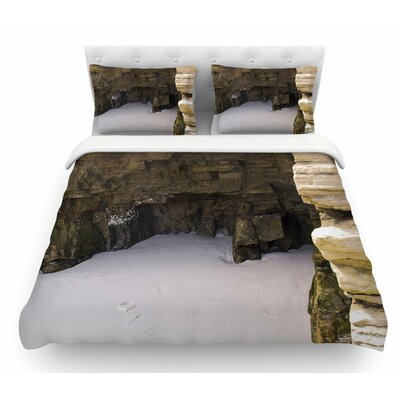 Sand and Stone Walls by Nick Nareshni Featherweight Duvet Cover Size: Queen
