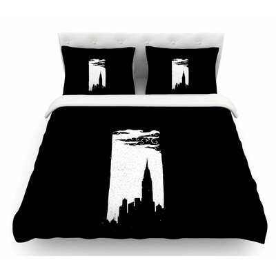 Chrysler Building by BarmalisiRTB Featherweight Duvet Cover Size: Queen