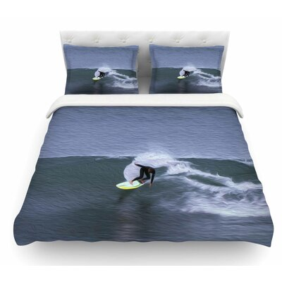 Surfers Ride by Nick Nareshni Featherweight Duvet Cover Size: Queen