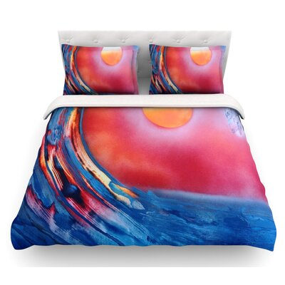 Ideal Barrel by Infinite Spray Art Featherweight Duvet Cover Size: Queen