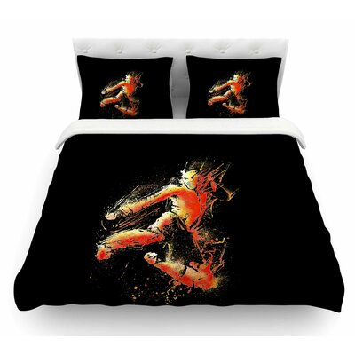 Strong Fighter by BarmalisiRTB Featherweight Duvet Cover Size: Twin