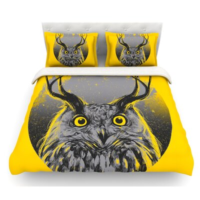 Majesty by BarmalisiRTB Owl Featherweight Duvet Cover Size: King