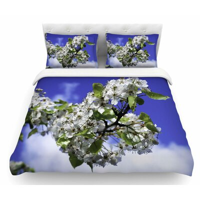 Cherry Blossoms and Sky by Nick Nareshni Featherweight Duvet Cover Size: Queen