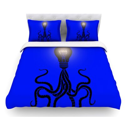 Octopus Bulb by BarmalisiRTB Tentacles Featherweight Duvet Cover Size: Queen