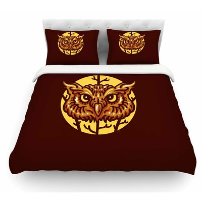 Head Owl by BarmalisiRTB Digital Featherweight Duvet Cover Size: King