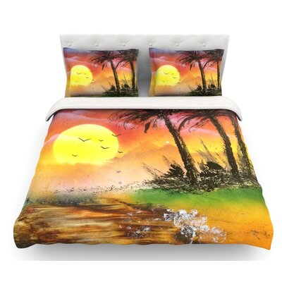 Maui Sunrise by Infinite Spray Art Beach Featherweight Duvet Cover Size: Queen