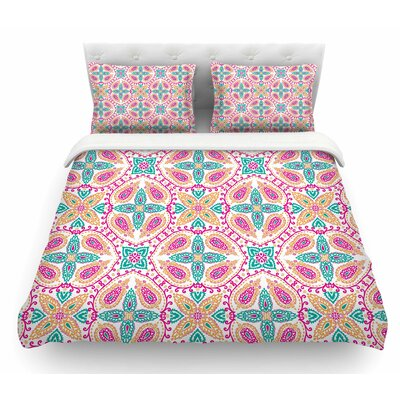 Boho by Nandita Singh Abstract Featherweight Duvet Cover Color: Pink/Multi, Size: Queen