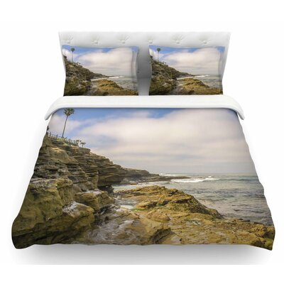 Rocks Over the Water by Nick Nareshni Featherweight Duvet Cover Size: Twin