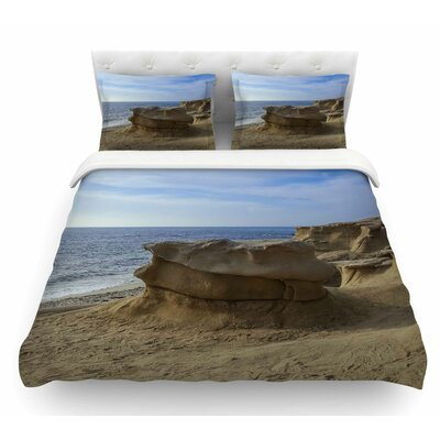 Rocks on the Beach by Nick Nareshni Featherweight Duvet Cover Size: Queen
