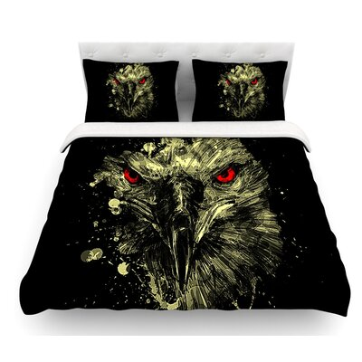 Eagle by BarmalisiRTB Featherweight Duvet Cover Size: King