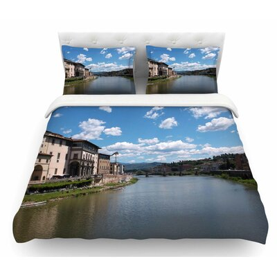 Canals of Italy by Nick Nareshni Travel Featherweight Duvet Cover Size: Queen