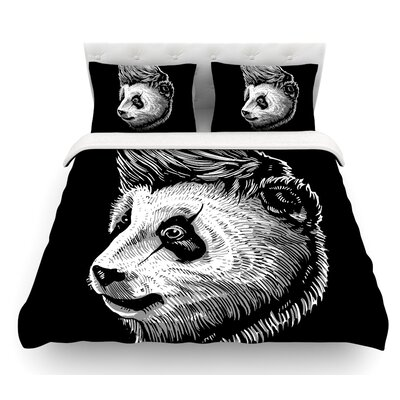 Funky Panda by BarmalisiRTB Featherweight Duvet Cover Size: Queen