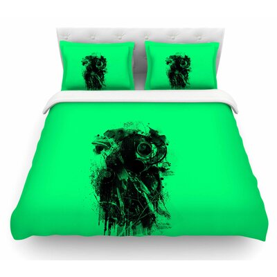 Gasmask by BarmalisiRTB Abstract Featherweight Duvet Cover Size: Twin